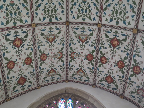 16- the decorated ceiling to the chancel