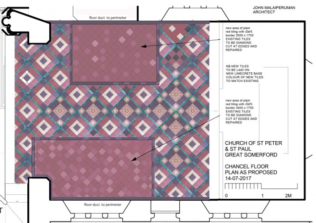 Chancel floor as Proposed